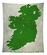 Ireland Grunge Map Tapestry