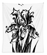 Iris Flower And Butterfly Tapestry