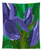 Iris Up Close And Personal Tapestry