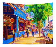 Irish Pub On Crescent Street Tapestry