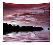 Sunset Swim Tapestry