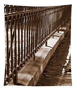 Iron Fence With Shadows Tapestry