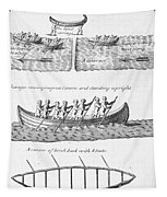 Iroquois Canoes Tapestry