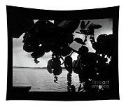 Island - View -  Black And White Tapestry