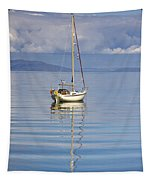 Isle Of Colonsay, Scotland Sailboat On Tapestry