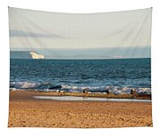 Isle Of Wight As Seen From Bournemouth Beach Tapestry