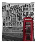 Isolated Phone Box Tapestry