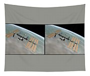 Iss - Gently Cross Your Eyes And Focus On The Middle Image Tapestry