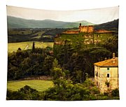 Italian Castle And Landscape Tapestry