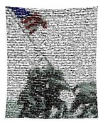 Iwo Jima War Mosaic Tapestry