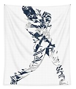 J D Martinez Detroit Tigers Pixel Art 3 Tapestry