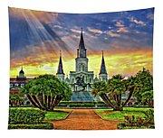Jackson Square Evening Rays Tapestry