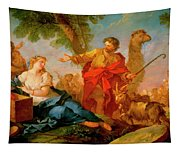 Jacob And Rachel Leaving The House Of Laban Tapestry
