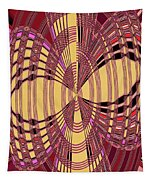 Janca Red And Yellow Abstract  Tapestry