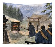 Japan: Cremation, 1890 Tapestry