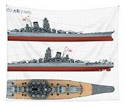 Japanese Battleship Yamato Tapestry