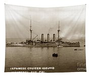Japanese Cruiser Izumo In Monterey Bay December 1913 Tapestry
