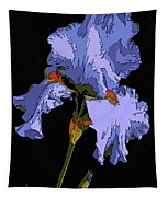 Japanese Iris-blue Beauty Tapestry