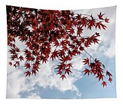 Japanese Maple Red Lace - Horizontal View Downwards Right Tapestry