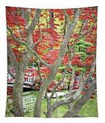 Japanese Maple Tree And Pond Tapestry