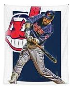 Jason Kipnis Cleveland Indians Oil Art Tapestry