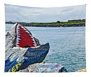 Jaws - Beach Graffiti Tapestry