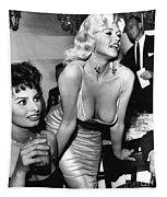 Jayne Mansfield Hollywood Actress And, Italian Actress Sophia Loren 1957 Tapestry