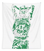 Jayson Tatum Boston Celtics Pixel Art 12 Tapestry