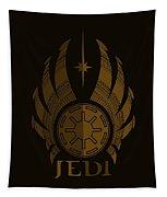 Jedi Symbol - Star Wars Art, Brown Tapestry