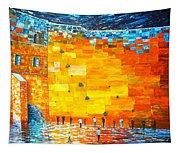 Jerusalem Wailing Wall Original Acrylic Palette Knife Painting Tapestry