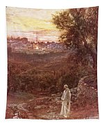 Jesus On The Mount Of Olives Tapestry