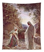 Jesus Revealing Himself To Mary Magdalene Tapestry