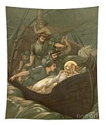 Jesus Sleeping During The Storm Tapestry