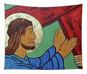 Jesus Takes Up His Cross Tapestry