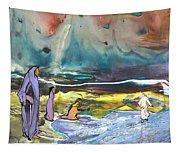 Jesus Walking On The Water Tapestry