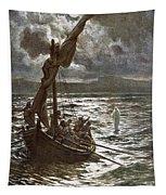 Jesus Walking Upon The Sea Tapestry
