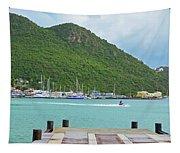 Jet Ski On The Lagoon Caribbean St Martin Tapestry