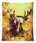 Jewel Deer Head Art Tapestry