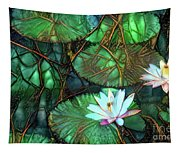 Jeweled Water Lilies Tapestry