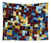 Jigsaw Abstract Tapestry