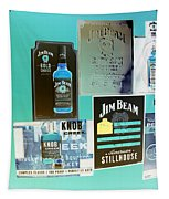 Jim Beam Signs On Display - Color Invert Tapestry