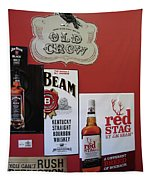 Jim Beam's Old Crow And Red Stag Signs Tapestry