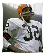 Jim Brown, Cleveland Browns, Signed Tapestry