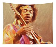 Jimi Jamming Tapestry
