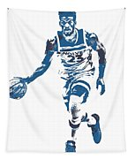 Jimmy Butler Minnesota Timberwolves Pixel Art 5 Tapestry