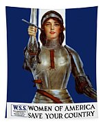 Joan Of Arc Saved France - Save Your Country Tapestry