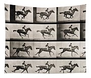 Jockey On A Galloping Horse Tapestry