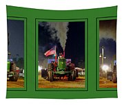 John Deere Tractor Pull Poster Tapestry