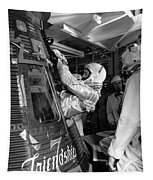 John Glenn Entering Friendship 7 Spacecraft Tapestry by War Is Hell Store