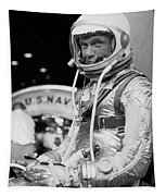 John Glenn Wearing A Space Suit Tapestry by War Is Hell Store